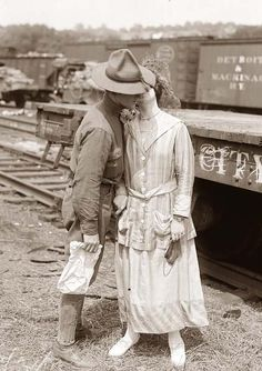 A soldier's Goodbye Kiss in World War I