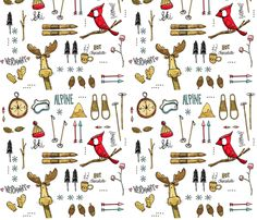 Ski In Vermont fabric by mulberry_tree on Spoonflower - custom fabric