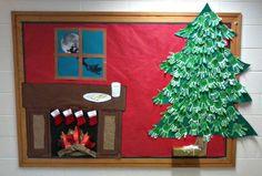 On Christmas Night! Holiday Bulletin Board Idea