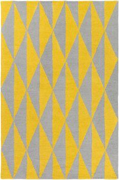 Hilda Sonja Hand-Crafted Yellow/Gray Area Rug