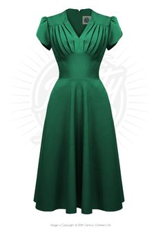 The Retro Swing Dress  Get down with that big band sound wearing our fabulous Retro Swing Dress inspired by the 40s & 50s.  This is a knock 'em out dress emphasising the waist and making the most of curves. The swing skirt style makes it perfect for all night jukebox jiving!  Green 1950s style dress from Pretty Retro  http://www.prettyretro.co.uk/just-added/retro-swing-dress-in-emerald