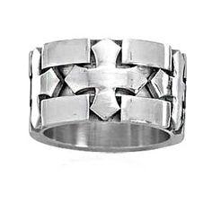 Men's Stainless Steel Cross Design Ring