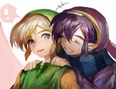 The Legend of Zelda: A Link Between Worlds - Link and Ravio