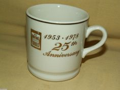NC MUTUAL DRUGS MUG 1953 1978 25TH ANNIVERSARY CUP #APOTHECARY COLLECTIBLE