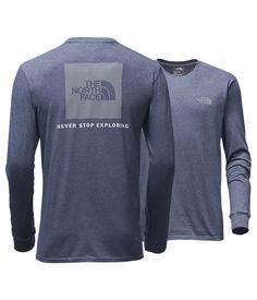 North Face MEN'S LONG-SLEEVE RED BOX TEE