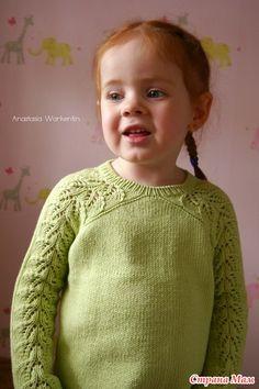 "Пуловер с ажурными рукавами по мотивам "" Bloomsbury"" - Вязание - Страна Мам Knitting For Kids, Baby Knitting, Knitted Baby, Knit Patterns, Cross Stitch Patterns, Bloomsbury, Knit Crochet, Kids Outfits, Baby Kids"