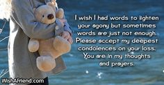Sympathy Messages For Loss Of Child