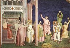 Bernardo Daddi - Il Martirio di S. Stefano - 1324 - Affresco - Cappella Pulci-Berardi - Basilica di Santa Croce, Firenze