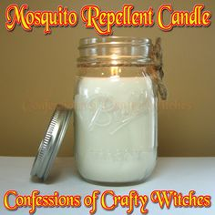 Herbal Health Care: Mosquito repellent Candle Tutorial