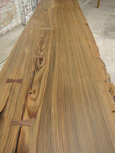 Sinker Cypress Slab Console Table