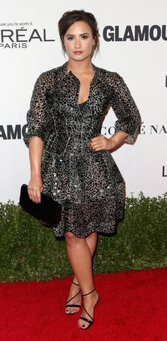 Demi Lovato in Zac Posen attends Glamour Women Of The Year 2016. #bestdressed