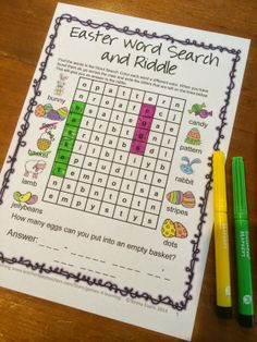 Easter Activities - Puzzles, Writing Prompts and Games with Easter Word Search Word Riddles, Word Puzzles, Word Games, Fun Games, Phonics Games, Literacy Activities, Teaching Tools, Teaching Ideas, Reading Games