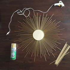 DIY Sun Burst Mirror- less than $10 and less than 10 minutes!