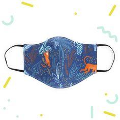 Masque Enfant 3-6 ans En Tissu Double Epaisseur Original   Etsy Blue Fabric, Monkey, Boy Or Girl, Etsy, Personalized Items, Public Transport, Cotton, Handmade, Face