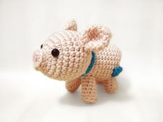 Porkie the Piggy amigurumi crochet pattern by Sweet N' Cute Creations  - only $2 for pattern