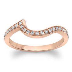 Round Brilliant 0.22 ctw VS2 Clarity, I Color Diamond 18kt Rose Gold Band