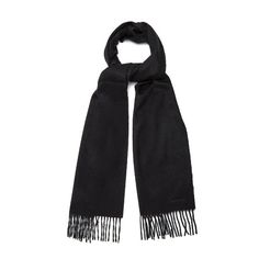 Paul Smith Fringed cashmere scarf (605 BRL) ❤ liked on Polyvore featuring men's fashion, men's accessories, men's scarves, black and mens cashmere scarves