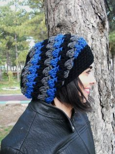 Slouch  Hat  Crochet Beanie Hat   Womens hat  chunky knit by Ebruk, $30.00
