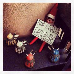 Elf on the Shelf meets Doctor Who