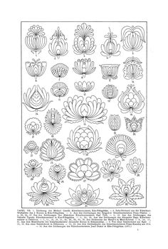 Free Clip Art and Digital Collage Sheet - Magyar Ornament Hungarian Embroidery, Folk Embroidery, Embroidery Stitches, Hungarian Tattoo, Japanese Embroidery, Floral Embroidery, Embroidery Designs, Motif Art Deco, Collage Sheet