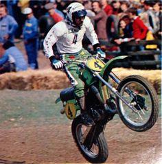 1979- Brad Lackey Flying his Kawasaki WC500 in Sittendorf Austria