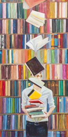Aquest dijous anem carregades de llibres i lectures per a tothom: llibres en les prestatgeries de casa, llibres en la biblioteca, llibr...