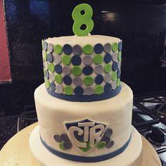 Polka Dot CTR cake for LDS baptism