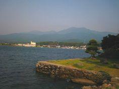 """pamandjapan:  小佐渡 (Ko-sado) The Ko-sado Mountain Range in Sado, Niigata is a mountain range covering the southern half of the island, with its mountains typically lower than those of the O-sado Mountain Range's.  """