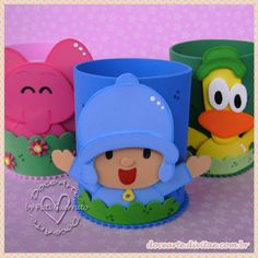 Kit de Porta Trecos - Turma do Pocoyo 9cmx7cm-500ft