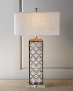 Mirrored Capiz Lamp - Discover home design ideas, furniture, browse photos and plan projects at HG Design Ideas - connecting homeowners with the latest trends in home design & remodeling Mirror Lamp, Bedside Lamp, Wall Lamps, Home Lighting, Lighting Design, Large Lamps, Tiffany Lamps, Lamp Bases, My Living Room