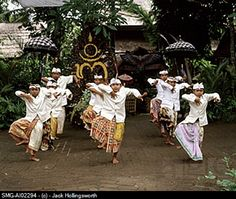 Indonesia, Bali, young boys in traditional costume, dancing. Inspite of the costume, I still can recognize the pose, hand gesture, as Bali. It was like the pose of Lord Shiva dancing, ehm.. I think it was Lord Indra with His holy and unique mudra.