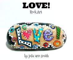 LOVE! Hand-Painted ROCK ART
