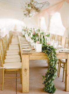Wedding Table Garland ~ Photography: Erin Hearts Court // Floral Design: Vail Vintage Magnolia