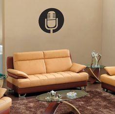 Adesivo de Parede Microfone, é um adesivo decorativo de parede Adesivo decorativo para você ter em uma parede, pode ser ela do quarto, da sala, corredor,...