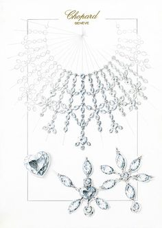 The sketch of what will become the Marilyn jewellery set.