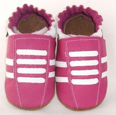 Hot Pink Running Crib Shoes Baby Crib Shoes, Babies Stuff, Hot Pink, Free Shipping, Running, Trending Outfits, Unique Jewelry, Handmade Gifts, Leather