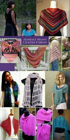 Crochet Abstract Shawls free patterns