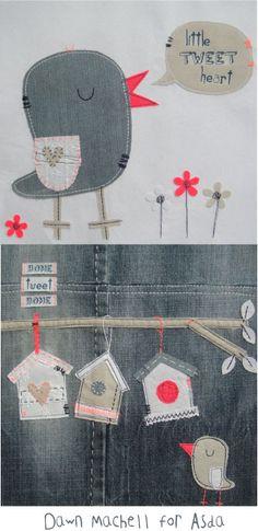 pop-i-cok bird house applique