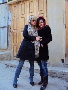 Young women in Teheran.
