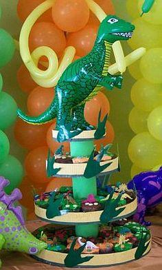 MuyAmeno.com: Fiestas Infantiles, Decoración Dinosaurios, Centros de Mesa