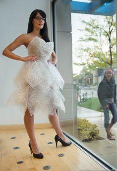 joepolimeni:  Bubble Wrapped Model: Meg Richmond Designer: Matthew Richmond The Paper Dress Code Photo: Joe Polimeni Joe Polimeni Photograph...