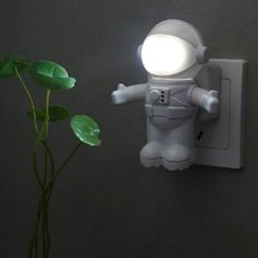 Quality Astronauts light-activated night light LED Night Light Child Bedside nightlight Intelligent Light Sensing Control with free worldwide shipping on AliExpress Mobile Space Themed Nursery, Nursery Room, Boy Room, Kids Bedroom, Space Theme Bedroom, Twin Room, Bedroom Night, Baby Bedroom, Outer Space Bedroom