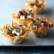 WeightWatchers.co.uk: Weight Watchers recipe - Caramelised Red Onion and Goat's Cheese Tarts   1 Propoint