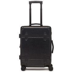 Women's Calpak Trunk 22-Inch Rolling Suitcase ($145) via Polyvore featuring bags, luggage and noir