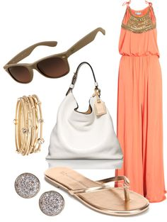 """summer livin'"" by nikki-wesling on Polyvore"