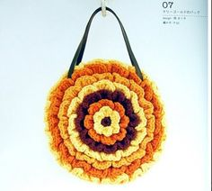 Fancy Flower Bag free crochet pattern. Knits4Kids no longer exists as of 11/17/12. Love this purse! I can do this! ¯\_(ツ)_/¯