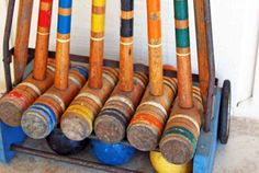 Croquet - brings back childhood memories! Vintage Sports Decor, Sewing Lessons, My Childhood Memories, 90s Kids, Vintage Love, Outdoor Fun, Lawn Games, Grief, Random Things