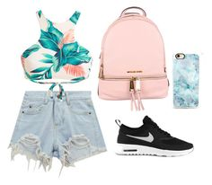 Summer 🙏🏾 by gherasim-alicia on Polyvore featuring polyvore, fashion, style, Chicnova Fashion, NIKE, MICHAEL Michael Kors, Casetify and clothing