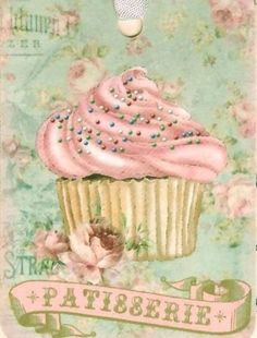 Cupcakes illustration vintage 64 Ideas for 2019 Decoupage Vintage, Vintage Diy, Vintage Labels, Vintage Cards, Cupcake Illustration, Vintage Pictures, Vintage Images, Vintage Prints, Vintage Posters