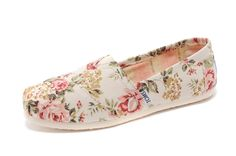 Toms Floral Print Women Slip On Shoes